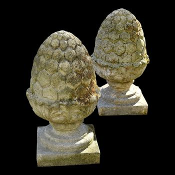 A Pair of Pineapple Finials