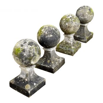Set of Four Ball Finials