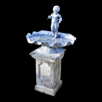 Lead Bird Bath on Pedestal