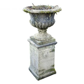 Single Urn on a Pedestal