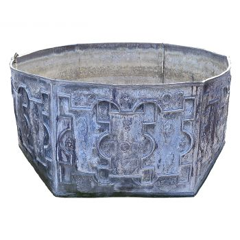 Hexagonal Lead Cistern Panel Fountain