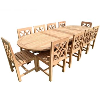 Teak Table and Lattice chairs