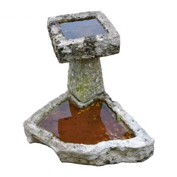 19th century bird bath