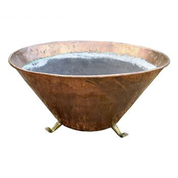 Large Antique Copper Planter