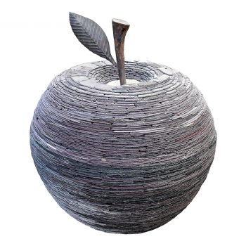 Slate Apple Sculpture