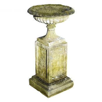 A Vintage Urn and Plinth