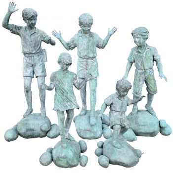 A Bronze Group of Five Children
