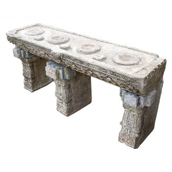 Antique Stone Pot Stand