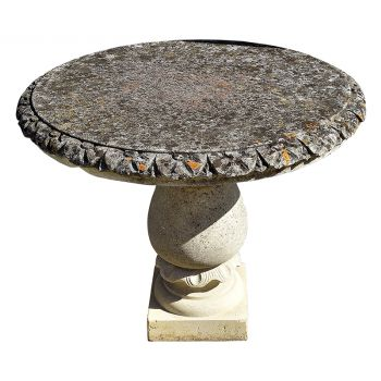 Round Limestone Table