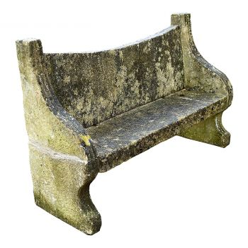 19th Century Cotswold Stone Garden Seat