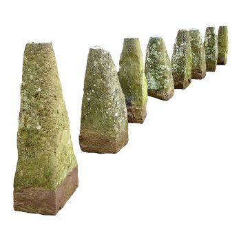 Eight Monumental Staddle Stone Bases