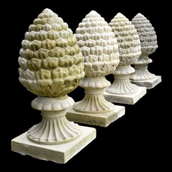 Set of Four Pineapple Finials