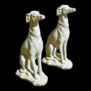 Pair of Sitting Greyhounds