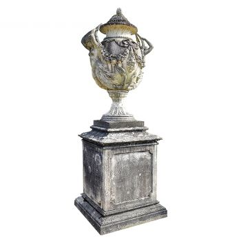 A Monumental Lidded Urn