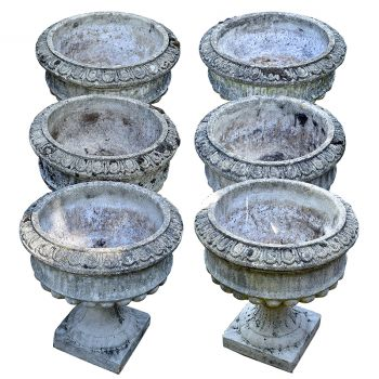 Set of Six Urns